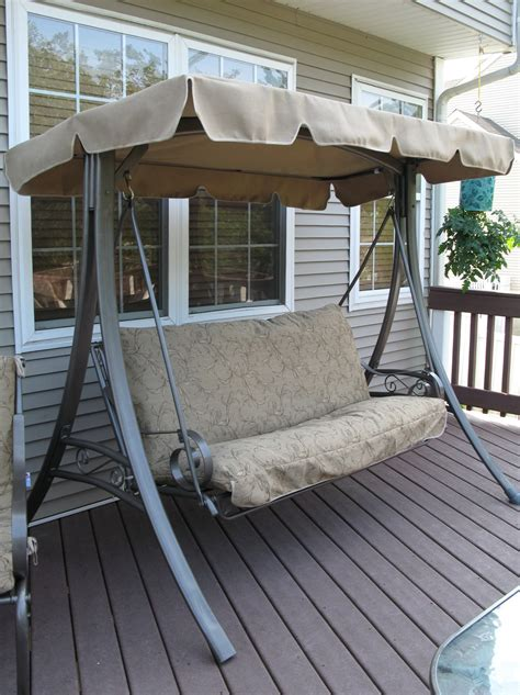 swing replacement cushions canopy patio swing cushion and canopy replacement home design ideas