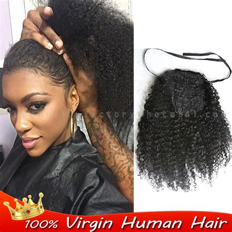 how to ponytail for fat people drawstring ponytail afro kinky curly ponytail 100 human