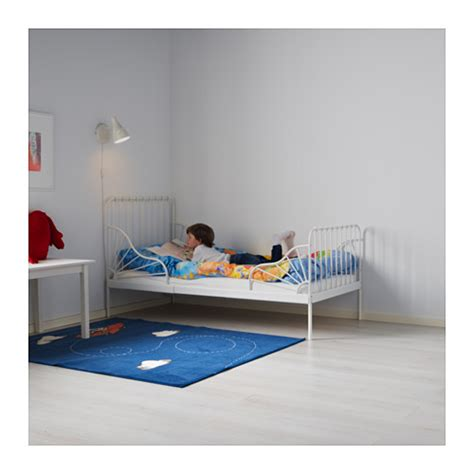 minnen bed minnen ext bed frame with slatted bed base white 80x200 cm ikea