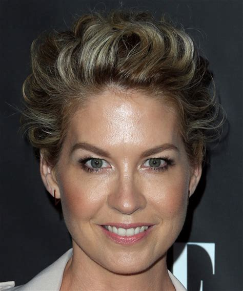 jenna elfman hair styles back view jenna elfman short wavy formal pixie hairstyle dark blonde