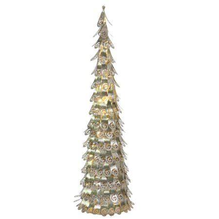 christmas tree light repair shop 3 pre lit chagne cone tree yard decoration warm clear led lights walmart