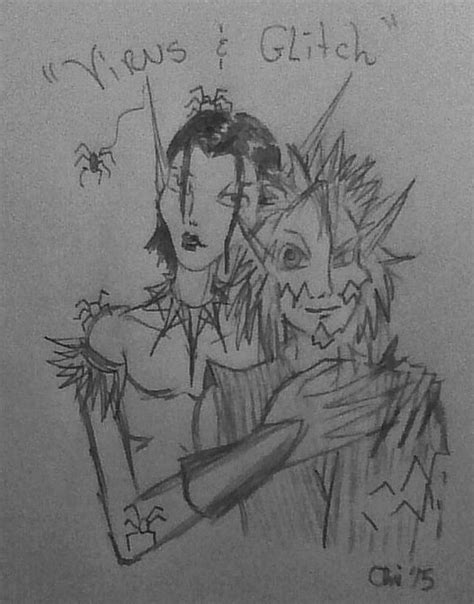 Virus and Glitch From The Iron Fey Books by SkaydaLee on