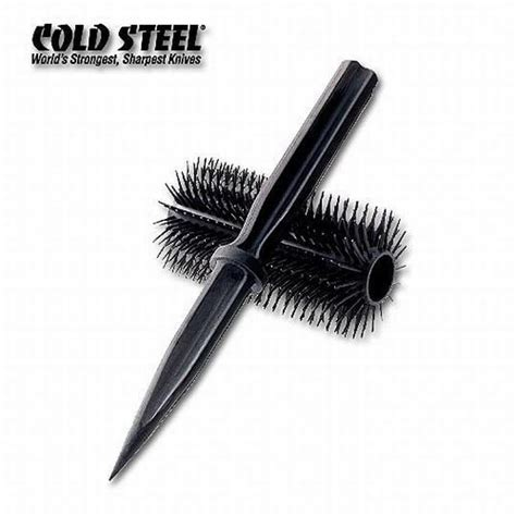 cold steel honeycomb cold steel honey comb hair brush self defense knife