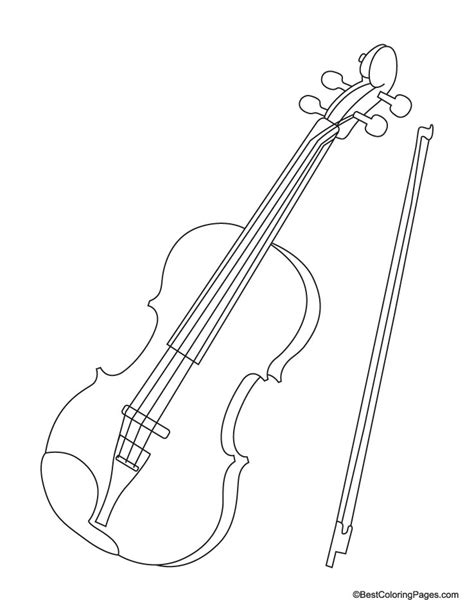 violin for coloring