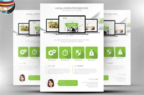 It Services Brochure Template by It Services Brochure Template Computer Services Flyer