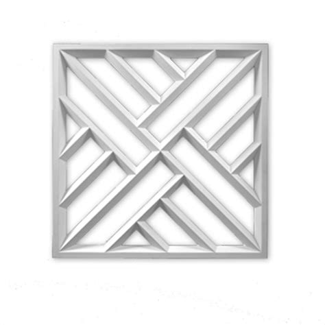 decorative trim home depot fypon 27 3 4 in x 27 3 4 in x 1 1 2 in polyurethane