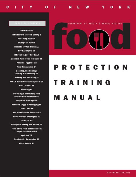 how did we can food protection training manual