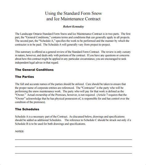 residential snow removal contract template 20 snow plowing contract templates docs pdf