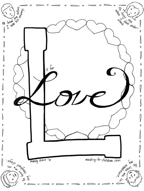 free coloring pages of love your enemies