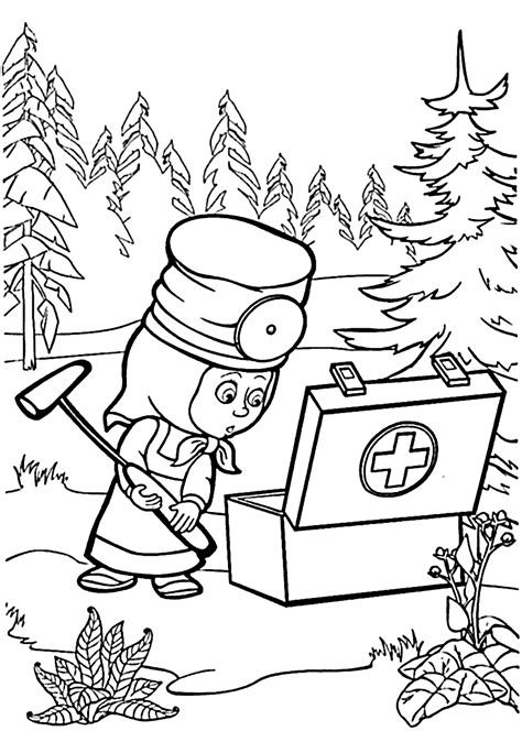 Coloring Pages Masha And Bear | marsha and the bear coloring pages