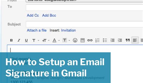how to setup an email signature in gmail geoff franklin