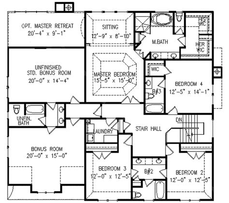 5 bedroom house plans with bonus room five bedrooms with bonus space 15831ge 2nd floor