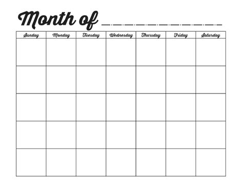 printable weekly calendar no dates family binder printables blank monthly calendar template