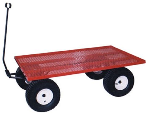 pulling cart amish steel bed wagon heavy duty utility lawn yard garden pull cart usa