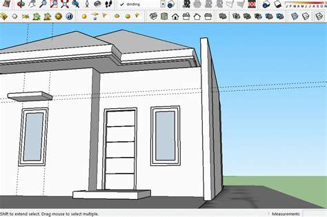 tutorial gambar rumah dengan sketchup tutorial sketchup membuat atap rumah part 4 gudang