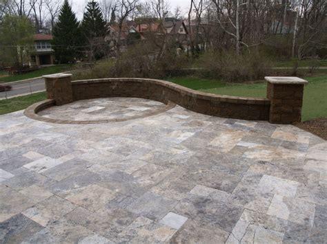 travertine tile patio travertine patio cincinnati by smithscapes llc