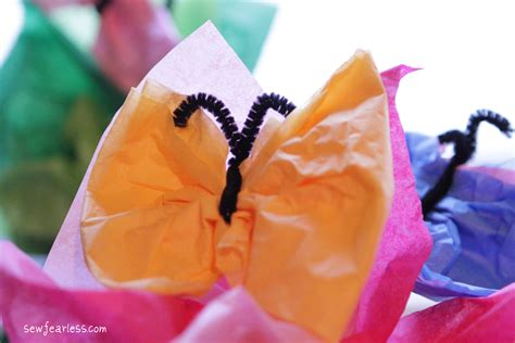 How To Make Tissue Paper Butterflies - a butterfly birthday tissue paper butterflies