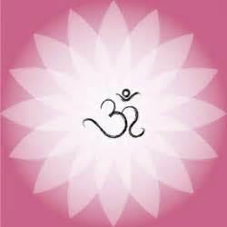 Lotus Flower Om Om Symbol On Pink Lotus Flower Vector Free