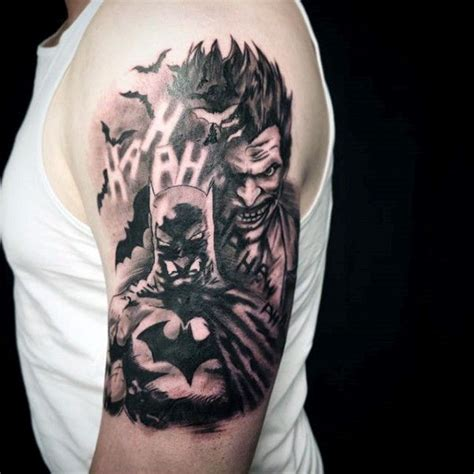 joker tattoo on arm batman and joker tattoo tattoo collections