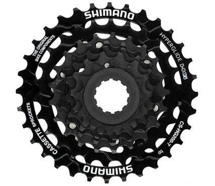 shimano 7 speed cassette shimano cs hg200 7 speed cassette tredz bikes