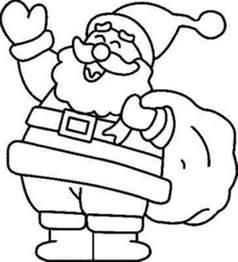 christmas santa coloring pages free christmas coloring