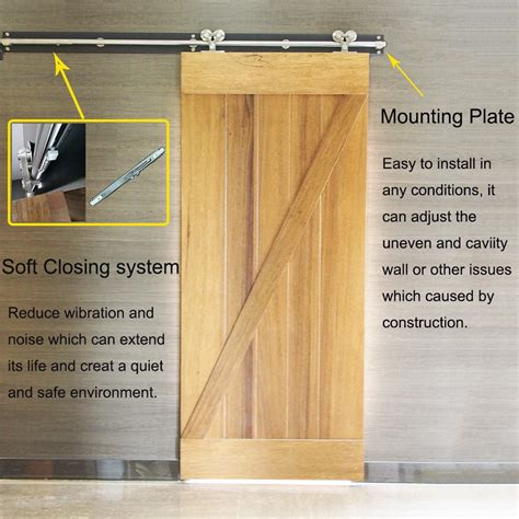 ceiling mounted barn door track ss ceiling mounted wooden sliding barn door track