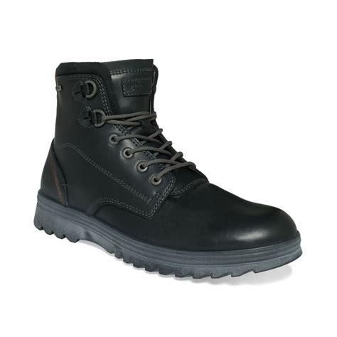 black waterproof boots mens ecco darren tex waterproof boots in black for lyst