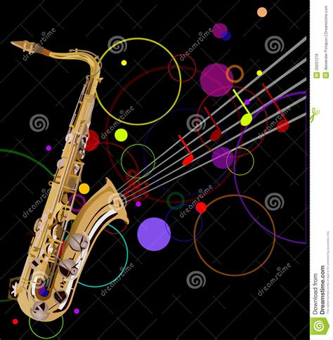 imagenes de notas musicales sin fondo saxof 243 n de oro en fondo negro ilustraci 243 n del vector