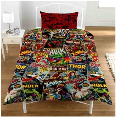 superhero bedding sets marvel comics book superhero duvet set quilt cover bedding kids child