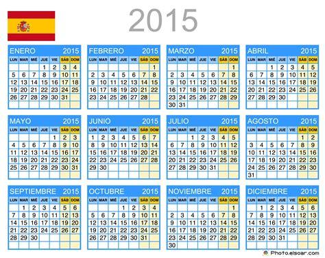 Calendario 2018 Español Calendarios Free Printable Calendar 2015