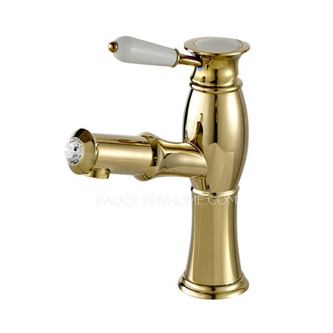 high end bathroom sink faucets high end luxury gold brass pull out bathroom faucet