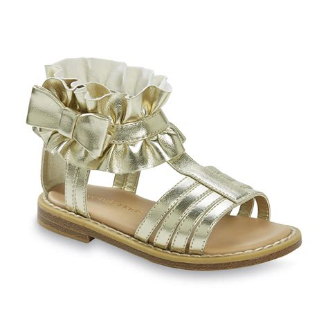 gladiator sandals for toddler wonderkids baby toddler s betsy gold ruffle gladiator