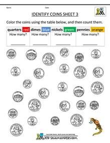 Best Sheets For The Money Image Gallery Kindergarten Money Activities