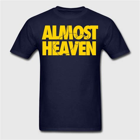 Navy Donker Blue Polo Shirt What The Heaven almost heaven t shirts t shirt spreadshirt