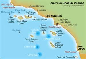islands california coast map southern california s islands banks and rocks