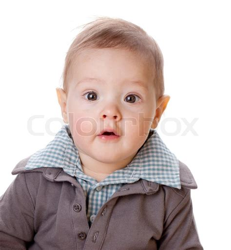 small baby portrait stock photo colourbox