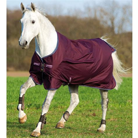 Equestrian Rugs by Amigo 6 Lite Turnout Rug 0g Fig Navy Lilac Redpost Equestrian