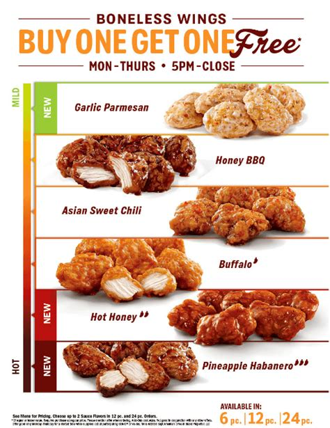 round wing flavors bogo boneless wings at sonic m f 5pm close living rich