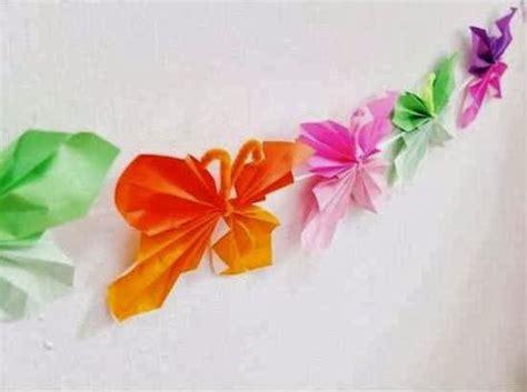 membuat kerajinan bunga dari kertas lipat cara membuat kerajinan tangan sederhana kupu kupu kertas 5