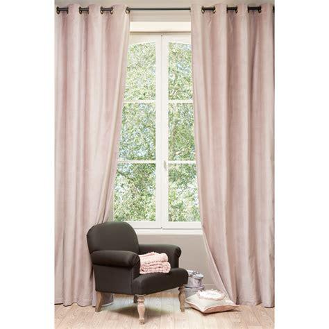 Antique Velvet Curtains Velvet Curtain Antique Pink 140 X 300 Cm Maisons Du Monde