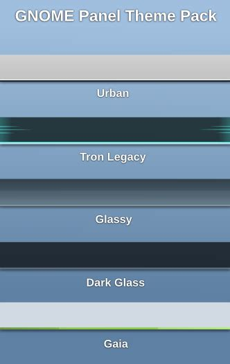 Gnome Panel Themes   gnome panel theme pack by half left on deviantart