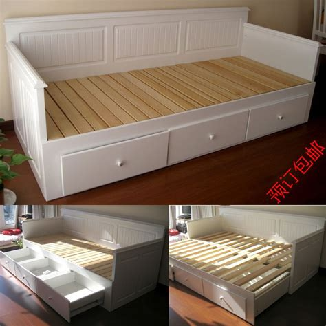 ikea sofa bed white wood furniture wood frame pull out sofa bed