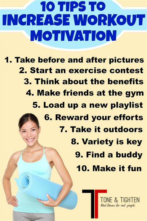 tips on how to a how to get motivated to workout 10 tips tone and tighten