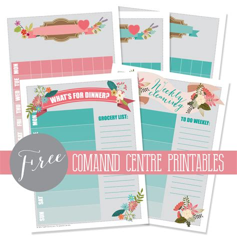 home decor printables archives crafty housewife diy back to school kitchen command centre from staples