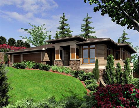 modern prairie style home plan 6966am architectural