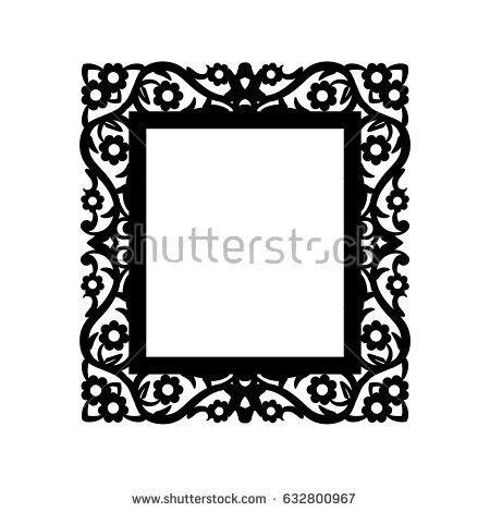 Laser Cut Photo Frame Decorative Rectangular Stock Vector 632800967 Shutterstock Laser Cut Photo Frame Template