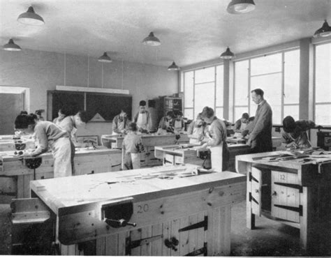 woodwork class hebburn st joseph s grammar school official opening 1960