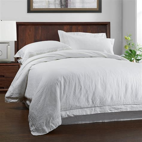 Bed Linen Set 100 Linen Wash Bedding Set Duvet Cover And Pillow With Embroidery Linen In Bedding