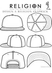 6 Panel Hat Template by Snapback Template I Can Do It Design Garment