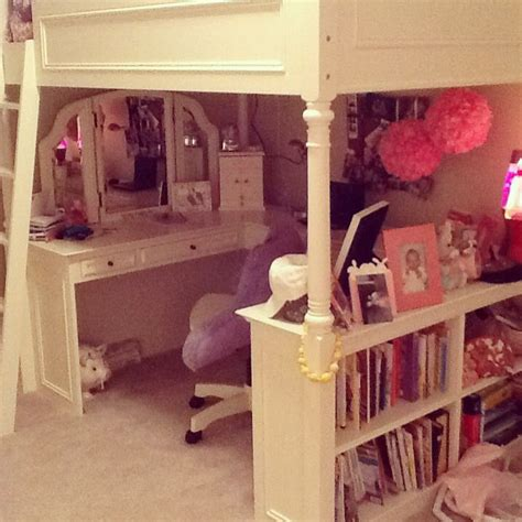 pb teen beds pb teen loft bed in erin s room princess erin